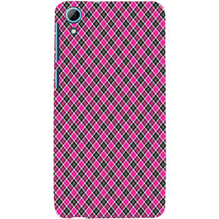 ifasho Colour Full Square Pattern Back Case Cover for HTC Desire 826