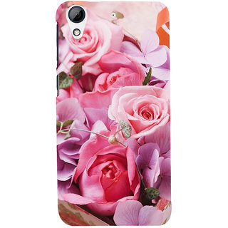 ifasho Red Rose Back Case Cover for HTC Desire 728