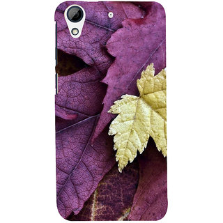 ifasho Fallen Leaf Back Case Cover for HTC Desire 728