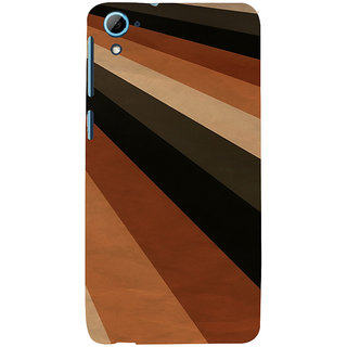 ifasho Design lines of different colours pattern Back Case Cover for HTC Desire 826