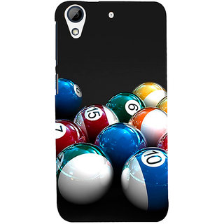 ifasho Design colourful biliards ball pattern Back Case Cover for HTC Desire 728