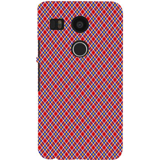 ifasho Colour Full Square Pattern Back Case Cover for Google Nexus 5X