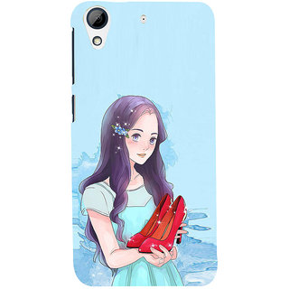 ifasho Girl with sandle in hand Back Case Cover for HTC Desire 626