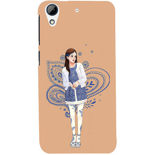 ifasho Beautiful Girl Back Case Cover for HTC Desire 626