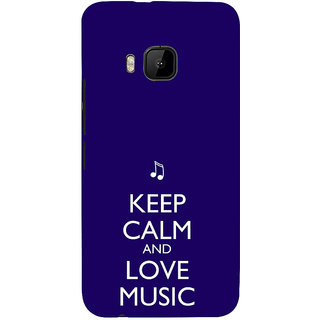 ifasho Nice Quote On Keep Calm Back Case Cover for HTC One M9