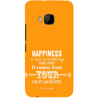 ifasho Faith  Quote on happiness Back Case Cover for HTC One M9