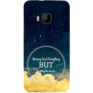 ifasho Life quote Back Case Cover for HTC One M9