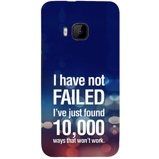 ifasho quotes on success Back Case Cover for HTC One M9