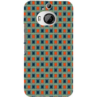 ifasho Colour Full Square Pattern Back Case Cover for HTC ONE M9 Plus