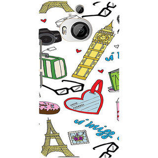 ifasho Modern Art Design Pattern camera box spec love tower Back Case Cover for HTC ONE M9 Plus