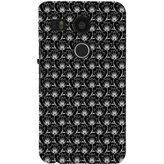 ifasho Animated Pattern black and white many lotus flower Back Case Cover for Google Nexus 5X