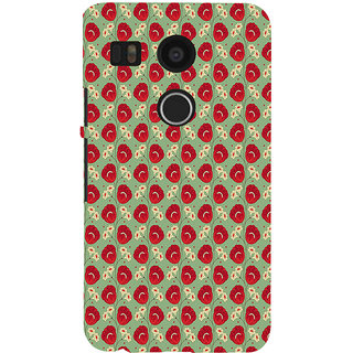 ifasho Animated Pattern flower with leaves Back Case Cover for Google Nexus 5X