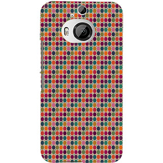 ifasho Animated Pattern  littel and Big colourful Circle Back Case Cover for HTC ONE M9 Plus