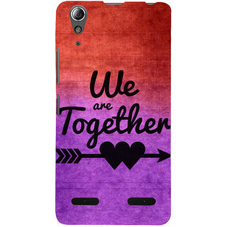 ifasho We are together Back Case Cover for Lenovo A6000 Plus