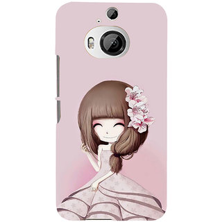 ifasho Cute Girl with Ribbon in Hair Back Case Cover for HTC ONE M9 Plus