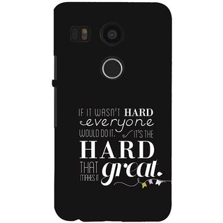 ifasho quotes on success Back Case Cover for Google Nexus 5X