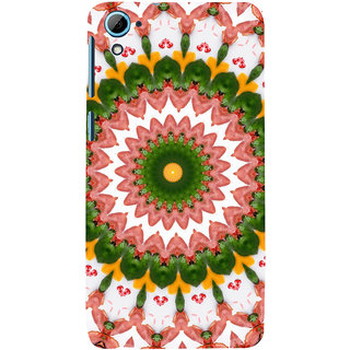 ifasho Animated Pattern design colorful flower in royal style Back Case Cover for HTC Desire 826