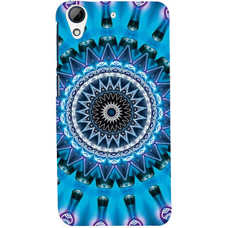 ifasho Animated Pattern design colorful flower in royal style Back Case Cover for HTC Desire 728