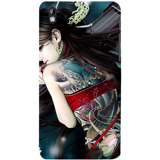 ifasho tatoo girl Back Case Cover for HTC Desire 816