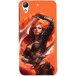 ifasho Girl with blade animated Back Case Cover for HTC Desire 626