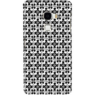 ifasho Animated Pattern design black and white flower in royal style Back Case Cover for Le TV Max
