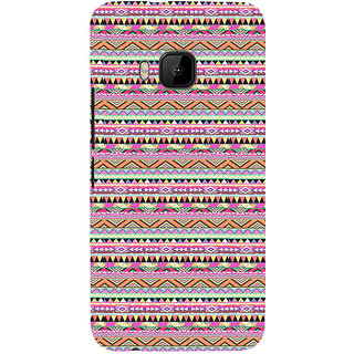 ifasho 3Diangular Pattern Back Case Cover for HTC One M9