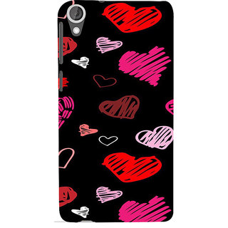 ifasho Animated Pattern With Love Back Case Cover for HTC Desire 820