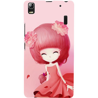 ifasho Cute Girl Back Case Cover for Lenovo A7000