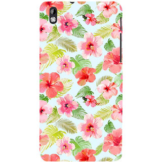 ifasho Animated Pattern mander flower with leaves Back Case Cover for HTC Desire 816
