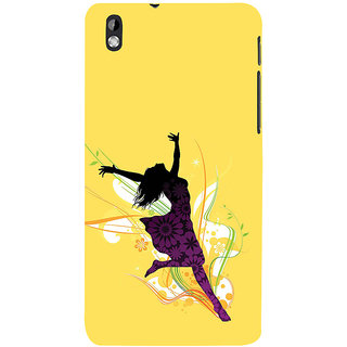 ifasho Dancing girl Back Case Cover for HTC Desire 816