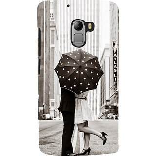 ifasho couple kissing in rain with umbrella Back Case Cover for Lenovo K4 Note