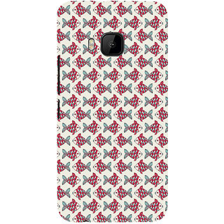 ifasho Modern Art Design Pattern Lot of fish Back Case Cover for HTC One M9
