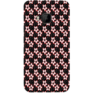ifasho Modern Art Design animated cloth Pattern of flower Back Case Cover for HTC One M9