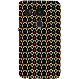 ifasho Animation Clourful Circle on black background Pattern Back Case Cover for Google Nexus 5X