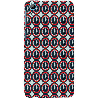 ifasho Animation Clourful Circle Pattern with man inside Back Case Cover for HTC Desire 826