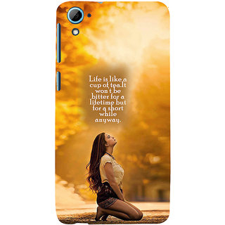 ifasho young Girl with quote Back Case Cover for HTC Desire 828