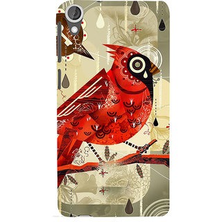 ifasho Animated Pattern birds and flowers Back Case Cover for HTC Desire 820