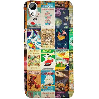 ifasho Animated Pattern colourful hollywood film posters  Back Case Cover for HTC Desire 626