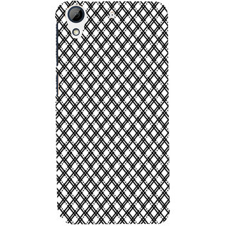 ifasho Modern Theme of black and white Squre lines Back Case Cover for HTC Desire 626