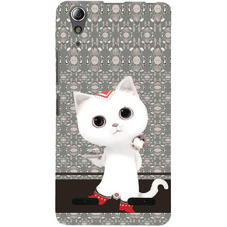 ifasho Winking and Dancing  Cat Back Case Cover for Lenovo A6000