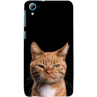 ifasho Brown cat Back Case Cover for HTC Desire 828