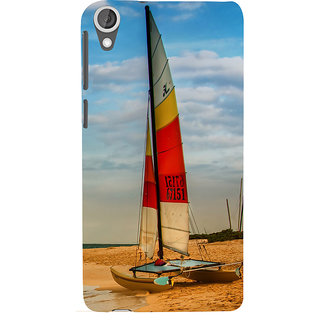 ifasho Boat in a beach Back Case Cover for HTC Desire 820
