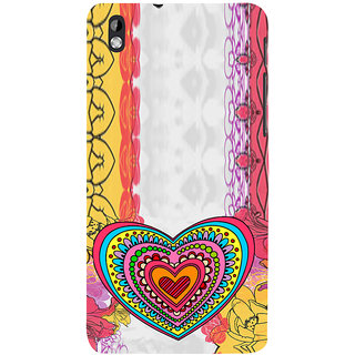 ifasho Modern Art Design Pattern with Heart and design colorful Back Case Cover for HTC Desire 816