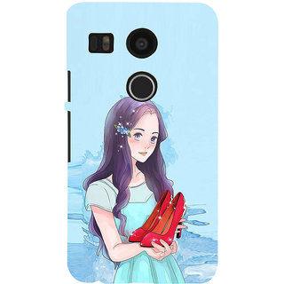 ifasho Girl with sandle in hand Back Case Cover for Google Nexus 5X
