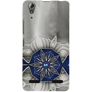 ifasho Animated Pattern design black and white diamond in royal style Back Case Cover for Lenovo A6000 Plus