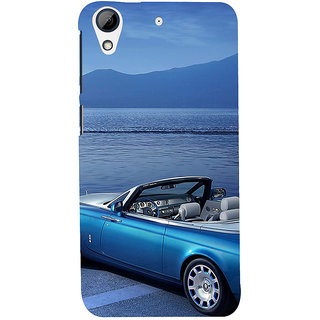 ifasho Long Car in beach Back Case Cover for HTC Desire 626