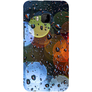 ifasho water Drop on colorful glass Back Case Cover for HTC One M9