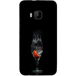 ifasho Rose in water glass with Drop of water Back Case Cover for HTC One M9