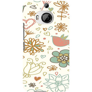 ifasho Animated Pattern colrful design cartoon flower with leaves Back Case Cover for HTC ONE M9 Plus