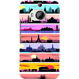 ifasho Modern Art Design Pattern tower temple building Back Case Cover for HTC ONE M9 Plus